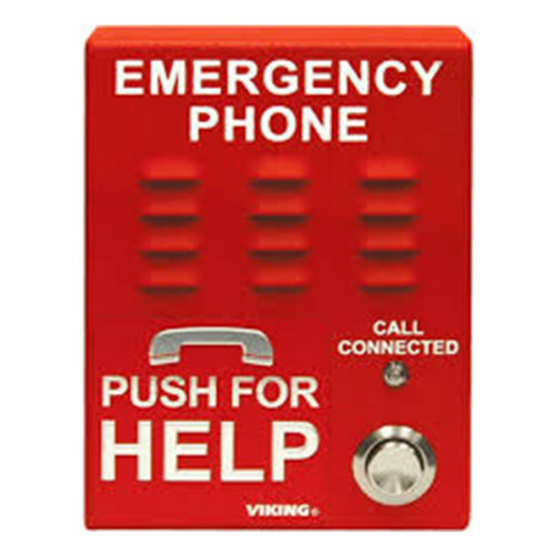 ADA Compliant Red VoIP Emergency Phone