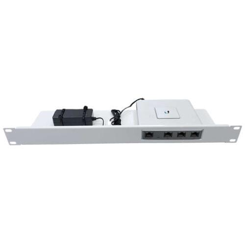 Rack Mount Adapter for Ubiquiti USG Case White Powder Coated 1
